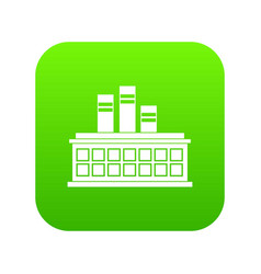 oil refinery plant icon digital green vector image