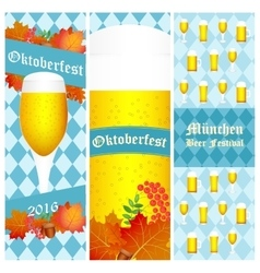 Oktoberfest 2016 vertical banners isolated on vector image