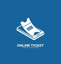 online ticket logo vector image