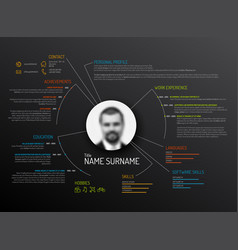 original cv resume template vector image