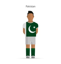 Pakistan football player Soccer uniform vector