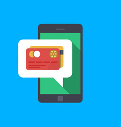 Pay with your smartphone hand holding smartphone vector