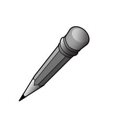 Pencil ui ux icon black white grey vector