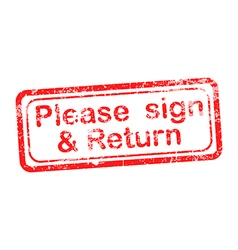 Pleasesignandreturn vector