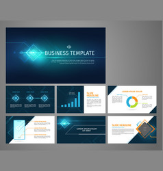 presentation business banner template set vector image