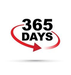 red 365 days vector image