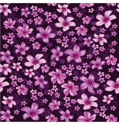 Seamless foral pattern with lined and colored vector