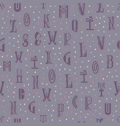 seamless pattern from the latin alphabet can be vector image
