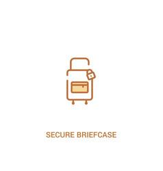 Secure briefcase concept 2 colored icon simple vector
