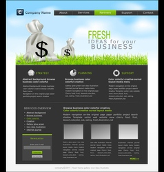 site with a bag dollars for business vector image