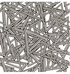striped triangles seamless pattern vector image