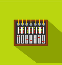 Studio sound mixer icon flat style vector