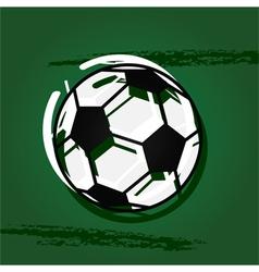 Stylized soccer ball vector