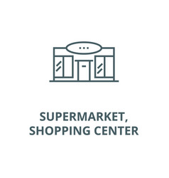 supermarketshopping center line icon vector image