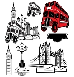 templates London attractions and transport vector image