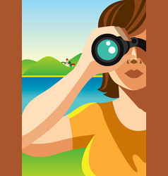 Through binocular vector