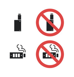 vaping device not allowed forbidding sign vector image