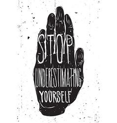Vintage motivational grunge quote poster doodles vector
