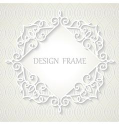 Vintage paper frame vector