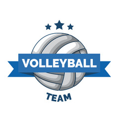 volleyball logo badge isolated vector image