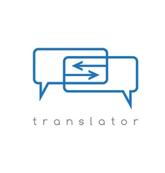 web translator with arrows vector image