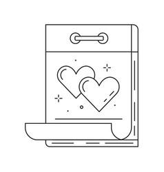 Wedding date day on calendar line icon vector