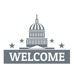 Welcome to usa logo simple style vector