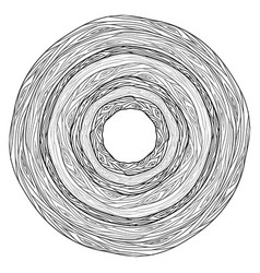black and white round doodle ornament from tree vector image