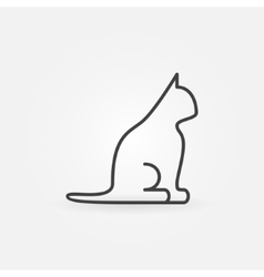 Cat line icon vector image vector image