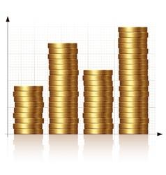 Coin graph vector image