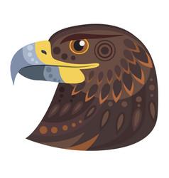 dark eagle head logo decorative emblem vector image vector image