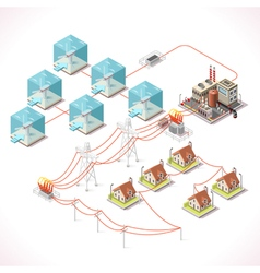 Energy 17 Infographic Isometric vector image vector image