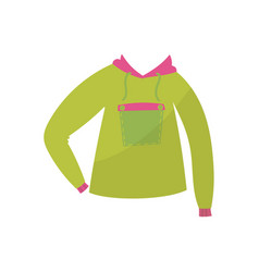 green hoodie boys wear on a vector image