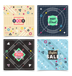 material design concept banners vector image vector image