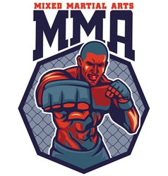 MMA fighter punch vector image vector image