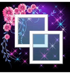 page layout photo frame vector image vector image