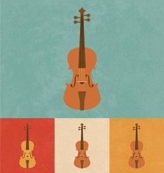 Retro Violin vector image vector image
