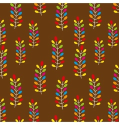 Seamless pattern on leaves theme vector image vector image