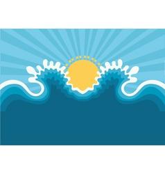 symbol of wavesblue nature seascape for design vector image