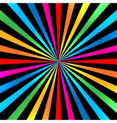 Colorful Bright Rainbow Spiral Background vector image