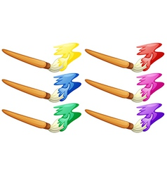 Different design of painters brush vector image