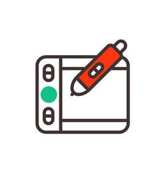 graphics tablet designer vector image vector image