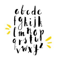 Handdrawn Alphabet vector image