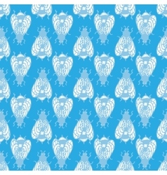 Bee in the blue sky Seamless pattern vector image