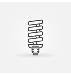 CFL bulb linear icon vector image
