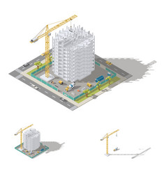 construction of house monolithic frame of the vector image vector image