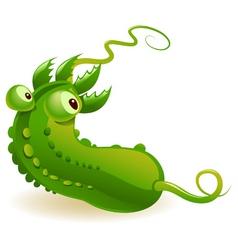 contaminated cucumber vector image