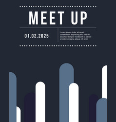cool colorful background meet up card design vector image vector image