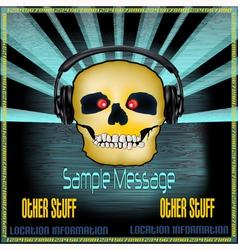 DJ Skull Poster vector image vector image