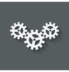 gear connected symbol industrial concept vector image vector image